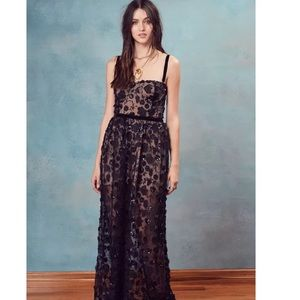 For love and lemons floral sequins maxi dress